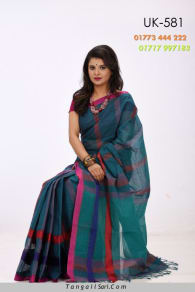 Soft Cotton Tangail Saree-UK-581