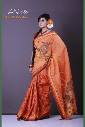 pure Cotton Tangail Saree-AN-1085