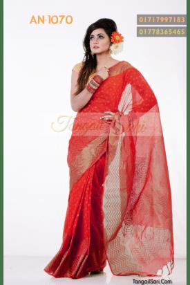 pure Cotton Tangail Saree-AN-1070