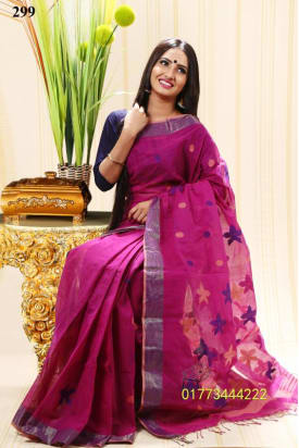 Soft Cotton Tangail Saree-TS-299