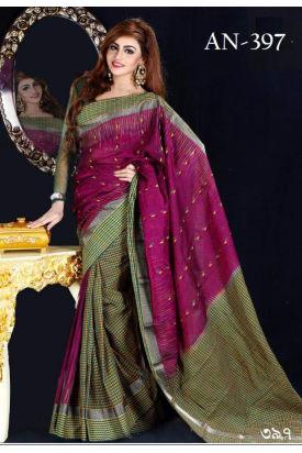 Soft Cotton Tangail Saree-AN-397