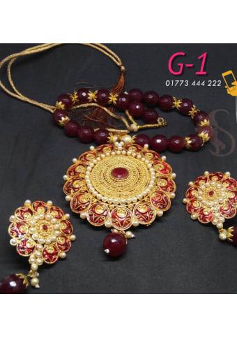 Joypuri Design Gold Plated Necklace