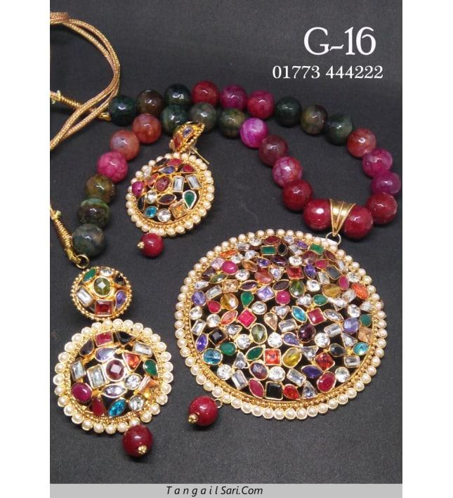 Joypuri Design Gold Plated Necklace-G-16
