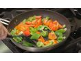 nonstick 12-Inch Turbo Fry Pan cooking bell pepper veggies - (TPA1004C)