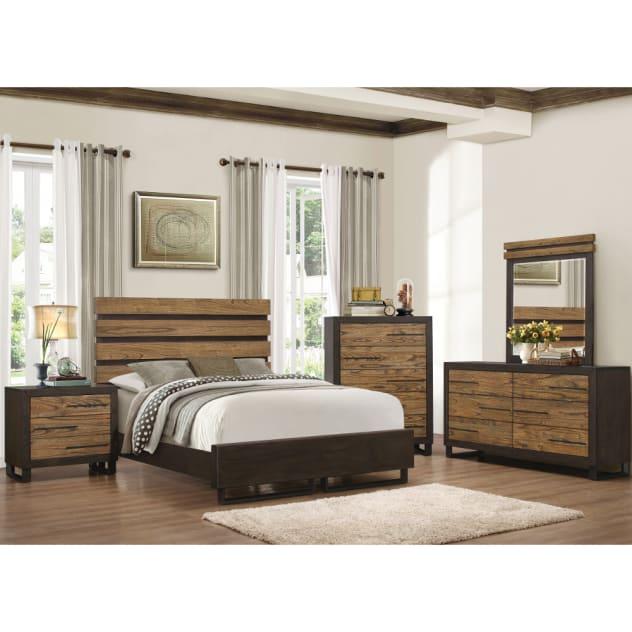 East Elm Bedroom - Bed, Dresser & Mirror - Queen - 57760