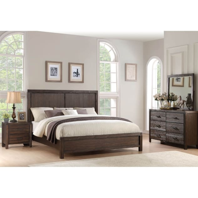 Jamestown Bedroom - Bed, Dresser & Mirror - King - JAMESTWNKGBR