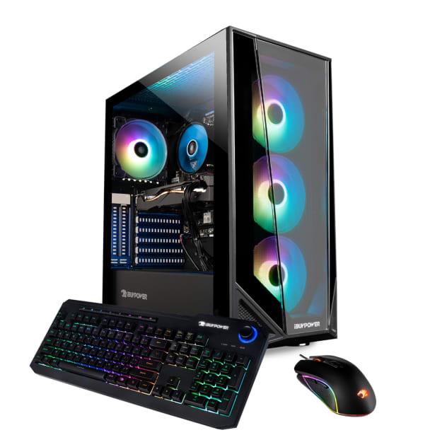 iBUYPOWER Pro Gaming PC Computer Desktop Trace 4 MR 182A (Ryzen 5 3600 3.6GHz, AMD RX 560 2GB, 8GB DDR4 RAM, 240GB SSD, WiFi Ready, Windows 10 Home)