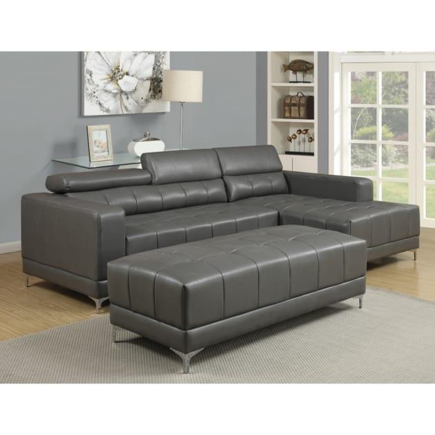 Wynn Sectional - RSF Chaise, LAF Loveseat - Grey- UWD133