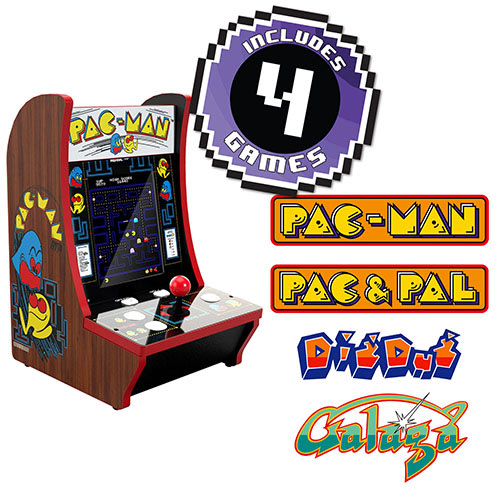 Pac-Man 40th Anniversary CounterCade, 4 Games in 1, Arcade1UP (815221021907)