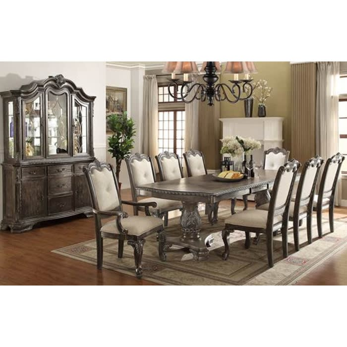 Alexandria Antique Dining - Dining Table & 4 Side Chairs - ALEXANTIQUEDR
