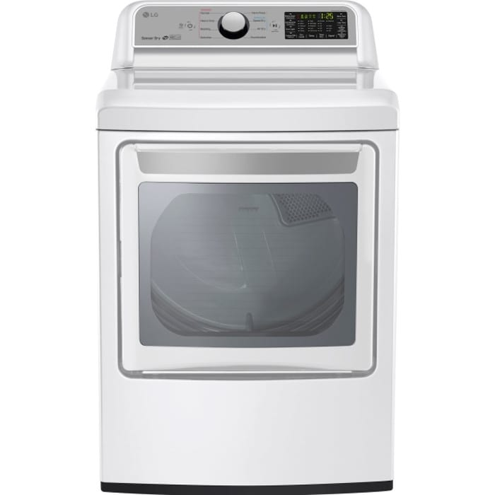 LG 7.3 Cu. Ft. Super Capacity Electric Dryer with Sensor Dry - DLE7200WE