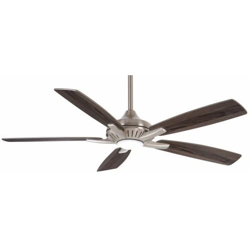 "Minka Aire 52"" Dyno Ceiling Fan w/LED Light Brushed Nickel"