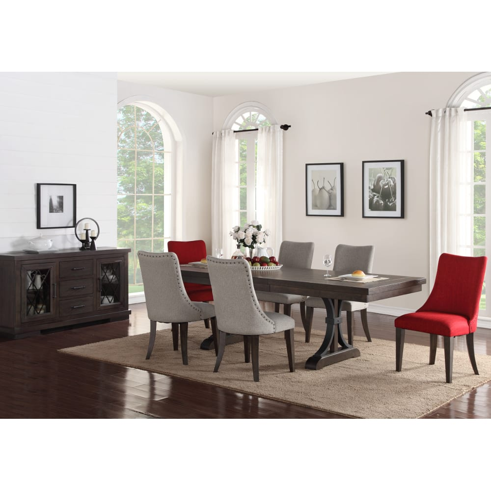 Monte Carlo Dining Set - Dining Table & 4 Side Chairs - Grey - 8078429