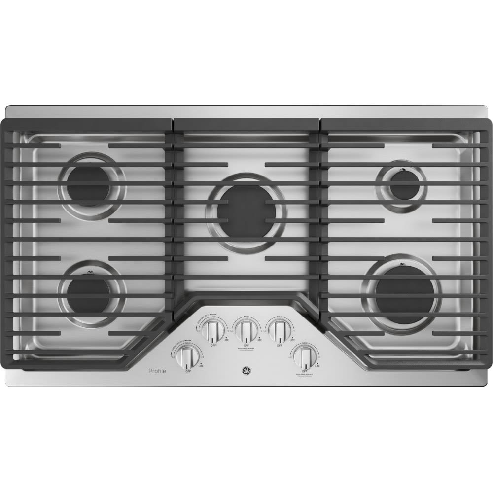 """GE Profile™ Series 36"""" Built-In Gas Cooktop - PGP7036SLSS"""
