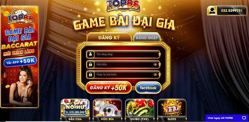 dang ky top88.club  - Top88.Club – cổng game bài đại gia được nhiều người yêu thích