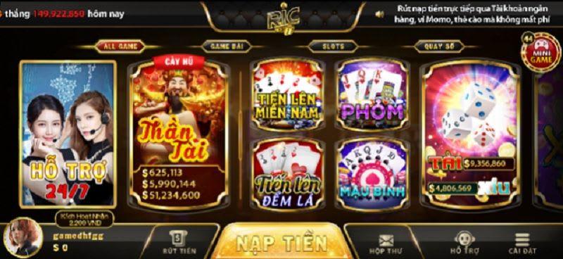 game ric.win  - Ric.Win – cổng game bài triệu đô thu hút đông đảo người chơi mỗi ngày