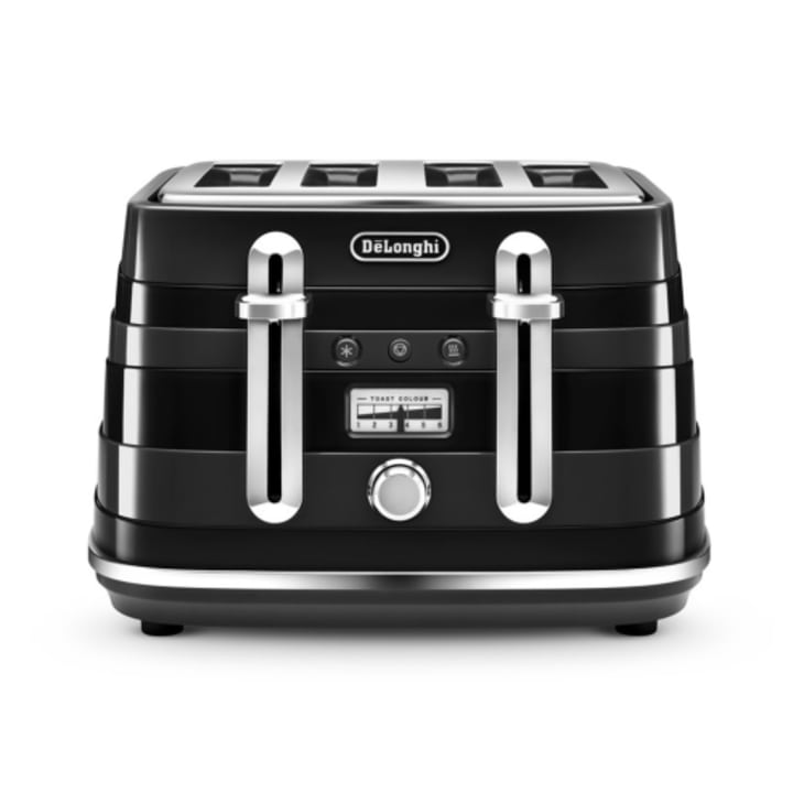 Delonghi Avvolta 4 Slice Black Toaster
