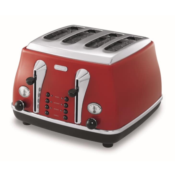 Delonghi Four Slice Icona Red Toaster