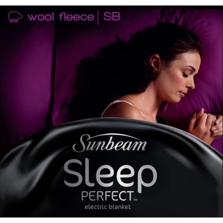 Sunbeam Single Sleep Perfect Single Wool Fleece Heated Blanket