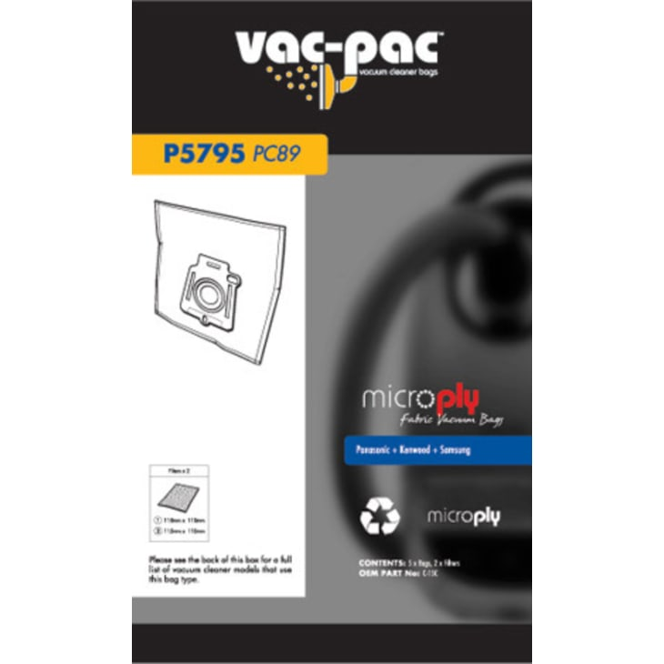 Vac-Pac PC89 Microply Vacuum Cleaner Bags