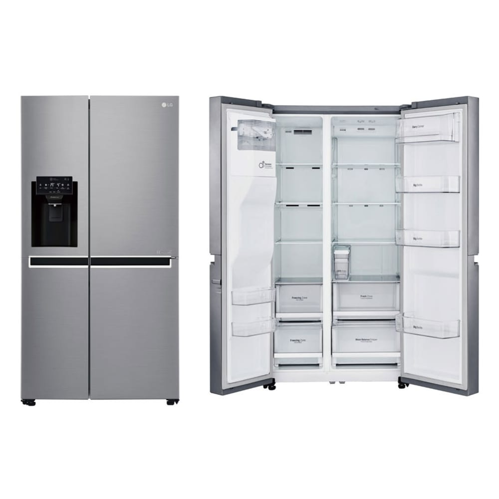 LG 668L Side by Side Fridge with Non Plumbed Ice & Water Dispenser