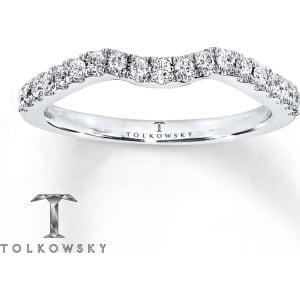 Tolkowsky Wedding Band 14 Ct Tw Diamonds 14k White Gold from Kay