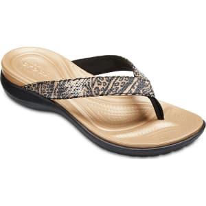 Crocs Capri V Graphic Sequin Flip aCHu2V6z