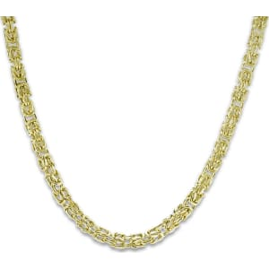 Jared Mens Byzantine Chain Necklace 10k Yellow Gold 22 Length
