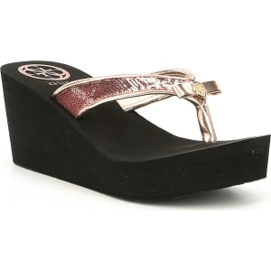 Guess Sequins Wedge Flip Flops 2xUB8OsWH