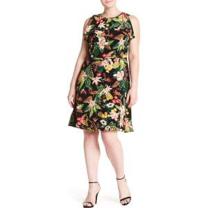 Floral Fit & Flare Dress (Plus Size)