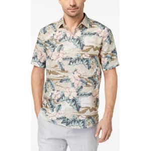 ea039698e8 Tommy Bahama Men's Linen Canoa Camo Long-Sleeve Shirt from Macy's.