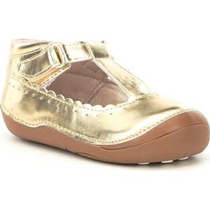 452a78f33a23e9 Sole Play Girls  Gavina Metallic T-Strap Shoes from Dillard s.