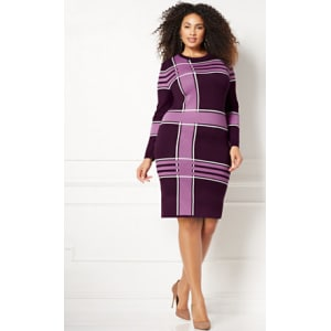 dabf94ed1f7 Eva Mendes Collection - Melina Sweater Dress - Plus from New York ...