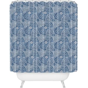 Circle Shower Curtain Blue