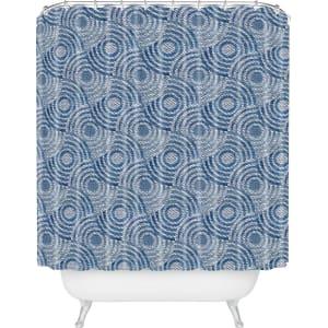 Circle Shower Curtain Blue