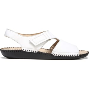 c4b7aacf3e25 Naturalizer Women s Scout Narrow Medium Wide Sandals (White Leather) from  Famous Footwear.