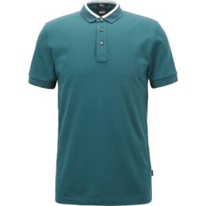 29146aa137 Hugo Boss Slim-Fit Polo Shirt in Cotton Pique Colorblock Collar Xl ...