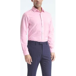 15234fc6 Grant Fit Non Iron Stretch Solid Shirt Men from Banana Republic.