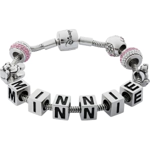 7e0877e65 Disney Minnie Mouse Pink Crystal Made Up Charm Bracelet from Argos.