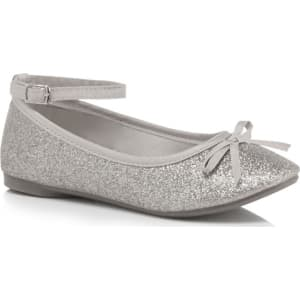 0593d00bda2 Bluezoo Girls  Silver Glitter Ankle Strap Pumps from Debenhams.