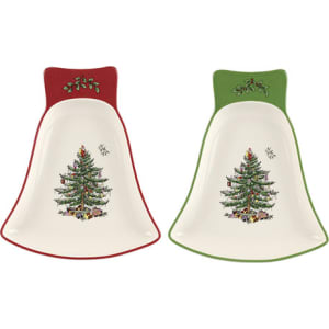 spode christmas tree dishes set of 2
