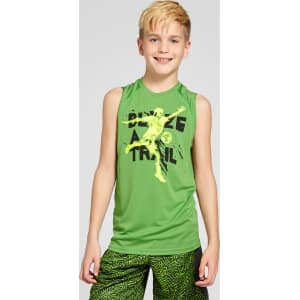 b0f3f9dab3f018 Boys  Sleeveless Graphic Tech T-Shirt - C9 Champion - Green Xl ...