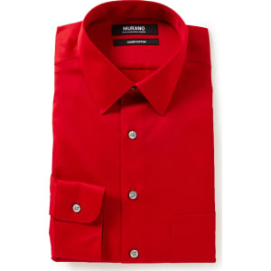 af07cf0b Murano Liquid Cotton Slim-Fit Point-Collar Solid Dress Shirt from ...