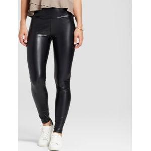 c33f0a6cb8102 Women's High Waist Faux Leather Leggings - K by Kersh Black Xs from ...
