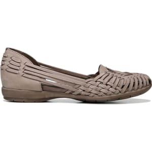 011228609a8a Natural Soul Women s Grandeur Huarache Flat Shoes (Taupe Nubuck ...