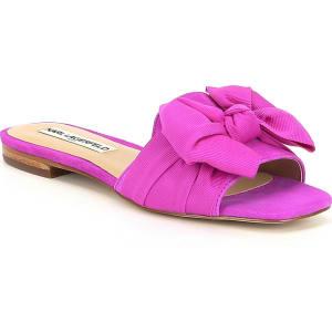 KARL LAGERFELD PARIS Rosie Suede Bow Slide Sandals