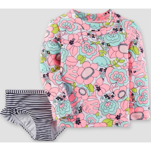 caa8a3b854b Toddler Girls  Floral Rash Guard Set - Just One You Made by Carter s ...