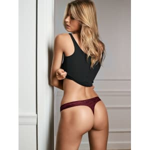 6c81b42c009 Everyday Perfect Thong Panty - black from Victoria s Secret Beauty.