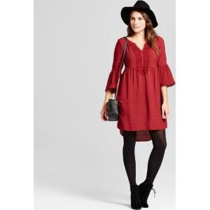 93d877701e105 Women s Crochet Bell Sleeve Dress - Knox Rose Berry (Pink) M from ...