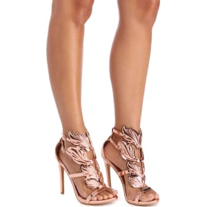 940242d6030 Rose Gold Winged Goddess Heels from Windsor.